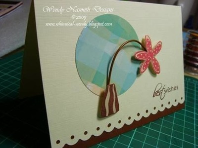 Card Tutorial - Best wishes flower card