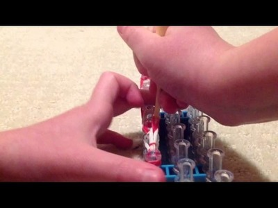 Christmas With Bethany #1 How To Make A Candy Cane Charm On Rainbow Loom
