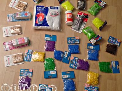 CRAFTY HAUL - Crafts Supplies! Duct Tape, Rainbow Loom, Tie Dye and More!