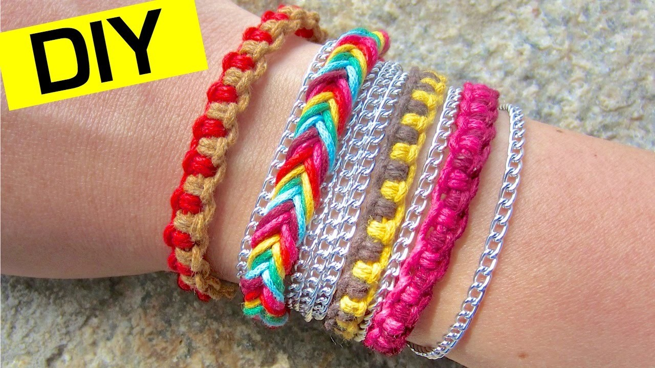 DIY Friendship Bracelets   How to Make a Fishtail Bracelet