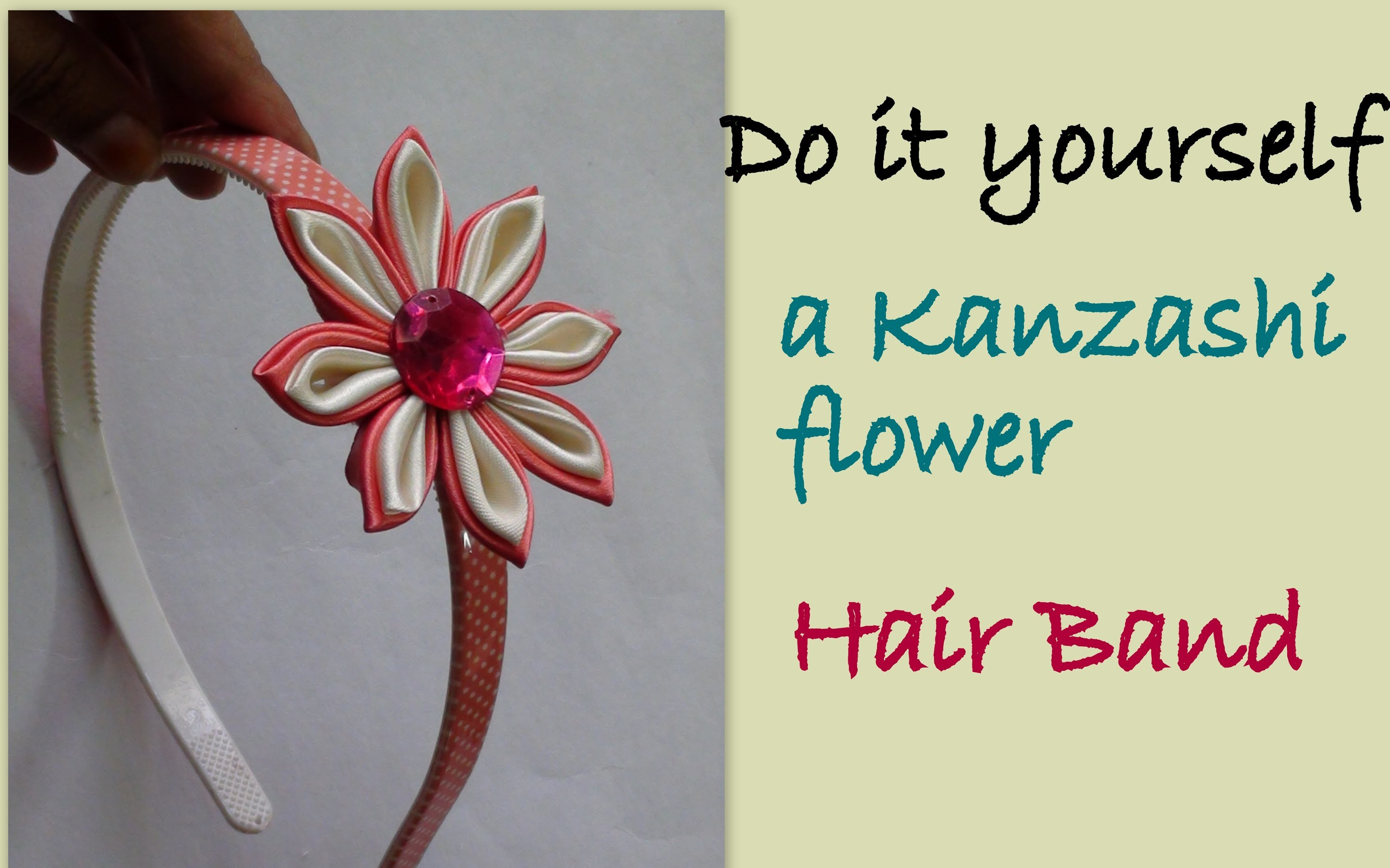 Do it yourself a Kanzashi flower HairBand