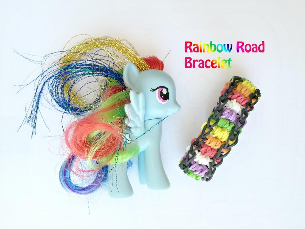 Easy Rainbow Loom Bracelet Tutorial: Rainbow Road