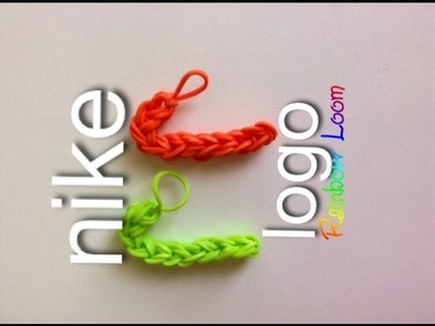 EASY Rainbow Loom Nike Logo Charms