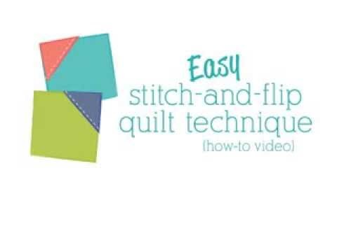 Easy stitch-and-flip quilt technique (how-to video)