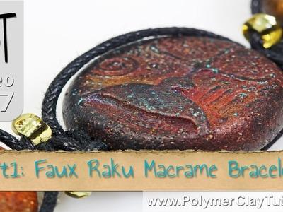 Faux Raku Macrame Bracelet Polymer Clay Tutorial (Intro)