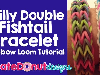 Frilly Double Fishtail Bracelet Rainbow Loom Tutorial