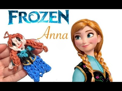 Frozen anna con elastici rainbowloom anna frozen tutorial rubber band