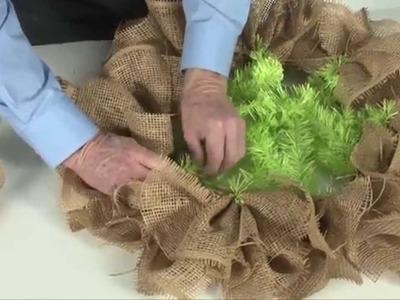 How to make a Burlap Paper Mesh Wreath
