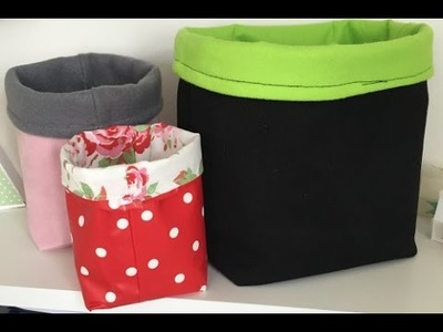 How To Make A Fabric Storage Caddy