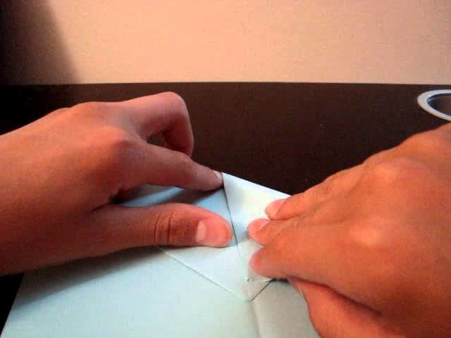 "How to make a paper airplane ""Hand Glider"""