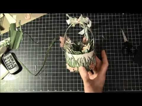 How to make a paper crown and braided basket