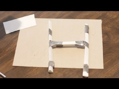 How to Make a Paper Football Goal Post : Paper Crafts