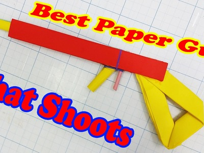 How to make a Paper Gun that Shoots - With Trigger