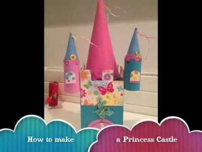 How to make a Princess Castle with toilet rolls. Knutselen