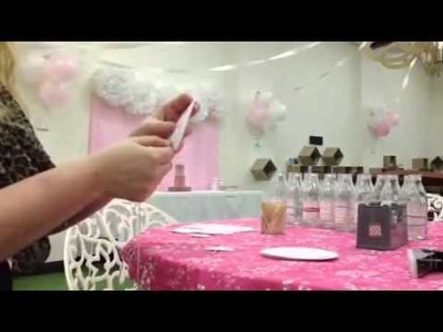 How to make a round bunting or Happy Birthday banner