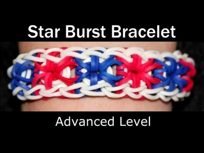 How to make a Rubber Band Starburst Bracelet - Hard Level