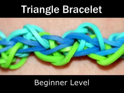 How to make a Rubber Band Triangle Bracelet - Easy Level