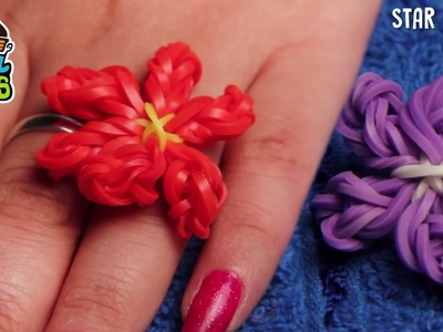 How to Make Rubber Band Ring - Easy Flower Rainbow Rubberband Ring Designs
