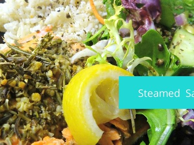 How to Make Steamed Salmon - Easy Rice Cooker Meals #sportyafros