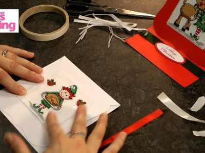 How to mount stitching as an easel card