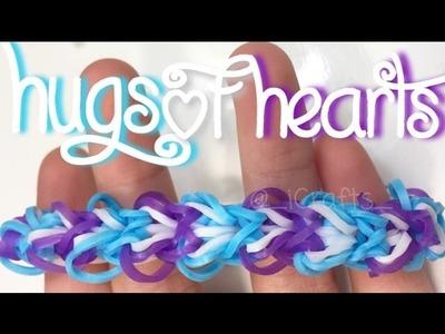 Hugs of Hearts Bracelet    Rainbow Loom Tutorial