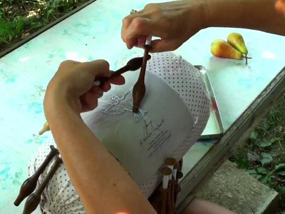 ICipka - how to: lace maiking. dove pattern (1.)