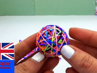 Loom bands bouncy ball easy - 3D Rainbow Ball Rainbow Loom tutorial