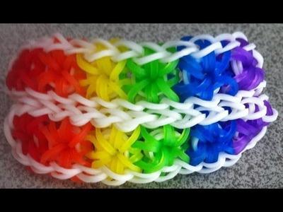 Loomer's Page- Rainbow Loom Double Star Burst Bracelet on ONE LOOM- Advanced