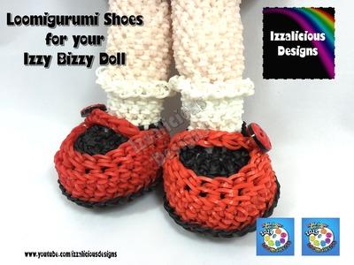 Loomigurumi Izzy Bizzy Doll - MaryJane Shoes - hook only - amigurumi with Rainbow Loom Bands