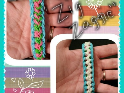 "My New Reversible ""Zig Zaggie"" Rainbow Loom Bracelet.How To Tutorial"