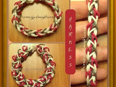 """NEW """"Harness""""  HOOK ONLY Rainbow Loom. How To Tutorial"""
