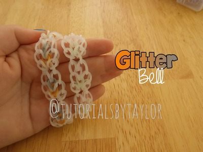 "NEW rainbow loom ""glitter bell"" hook only bracelet"