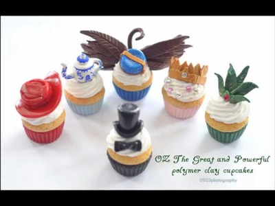 OZ The Great and Powerful: Polymer Clay Cupcakes