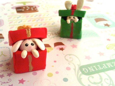 Polymer Clay Bunny in a Gift Box Tutorial