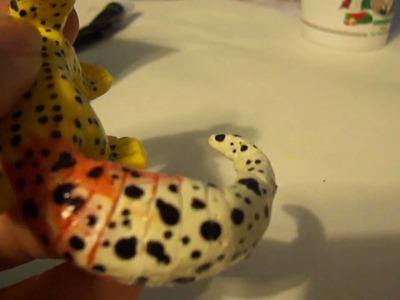 Polymer clay Leopard Gecko