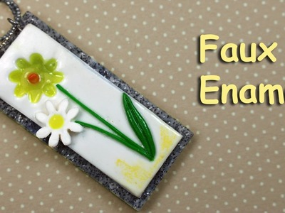 Polymer clay tutorial - Faux Enamel  pendant