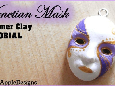 Polymer Clay Venetian Mask Charm.Pendant TUTORIAL