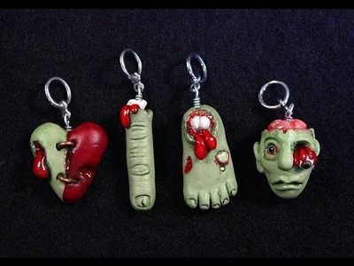 Polymer clay Zombie heart tutorial