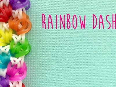 Rainbow loom bands rainbow dash bracelet tutorial (no loom no hook)