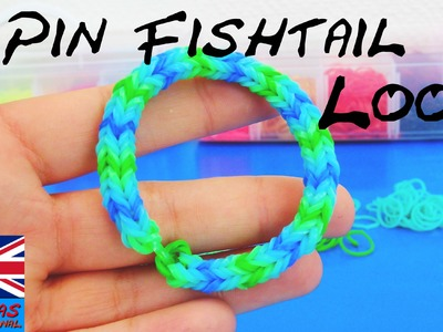 Rainbow Loom Bracelet 3- Pin Fishtail easy tutorial how to with fork