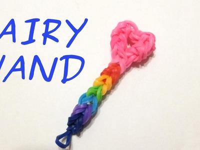 Rainbow loom Fairy Wand charm | Loom bands how to | Easy