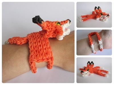 Rainbow Loom fox bracelet Loombicious