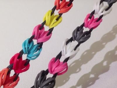 Rainbow Loom Nederlands, Circle of Hearts armband, Fingerloom