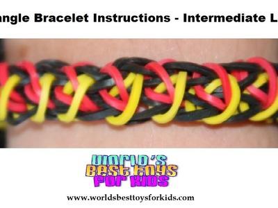 Rainbow Loom Rubber Band Refill - Rectangle Bracelet  Instructions