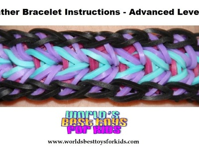 Rainbow Loom Rubber Band Refill - Feather Bracelet Instructions