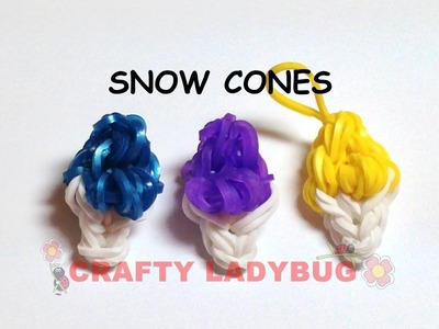 Rainbow Loom SNOW CONE Easy Charm Tutorial by Crafty Ladybug, Wonder Loom, DIY LOOM, FUN LOOM