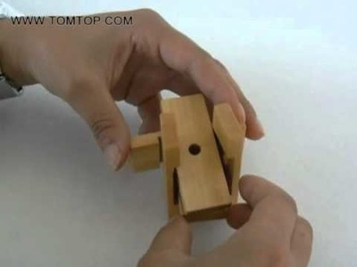 [US$4.29] DIY Kongming Wooden Lock Educational Puzzle Toy from TOMTOP.com