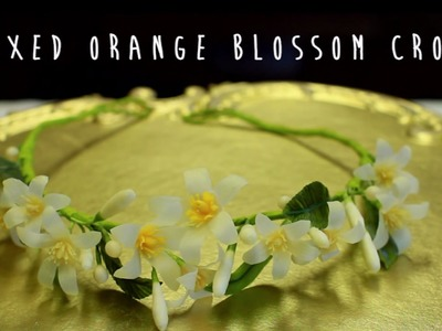 Waxed Orange Blossom Crepe Paper Crown