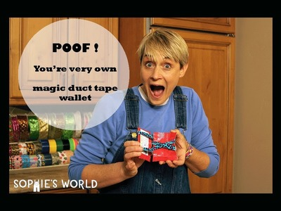 """DIY Duct Tape """"Magic"""" Wallet