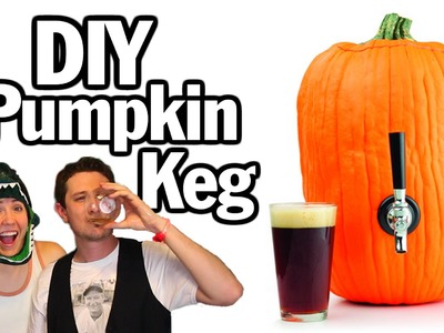DIY Pumpkin Keg w. Hannah Hart - Man Vs.Pin #36